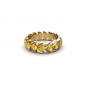 LAB-Laurel-bague-or-jaune-pierre-citrine-ileodiamants-2